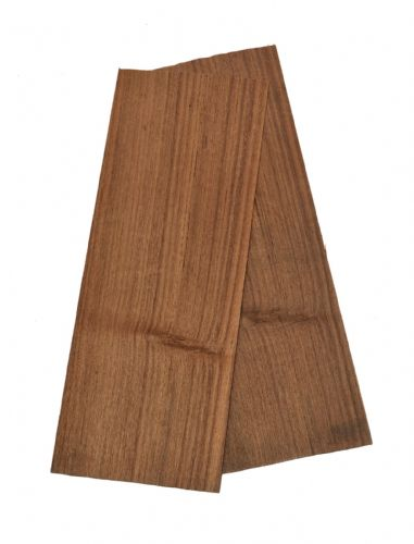 "1.5mm Teak veneer  Set of 2 leafs: 18"" x 6.5"" ( 46 x 17 cm )"